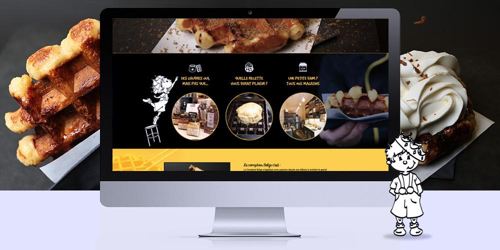 Webdesign - Le Comptoir Belge - page d'accueil