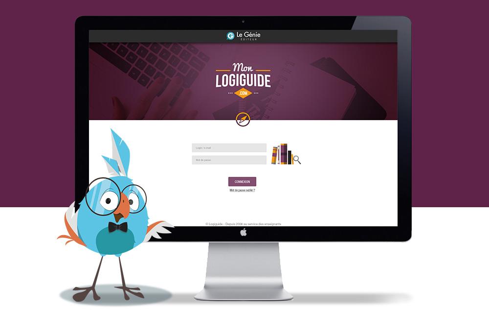 Webdesign mon logiguide page connexion